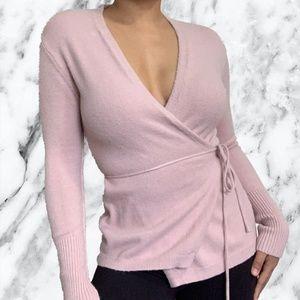Mendocino Pink Tie Up Sweater